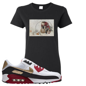 Air Max 90 Chinese New Year Women's T Shirt | Black, Japanese Rat Party