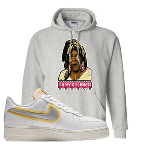 Air Force 1 Low 07 LX White Gold Hoodie | Oh My Goodness, Ash
