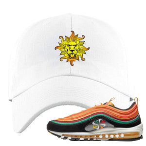 Air Max 97 Sunburst Sneaker Hook Up Vintage Lion Head White Dad Hat