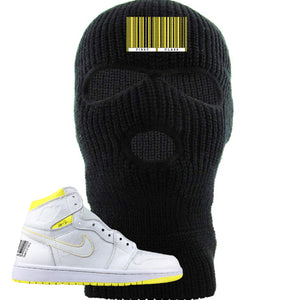 Air Jordan 1 First Class Flight First Class Barcode Black Sneaker Matching Ski Mask