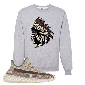 Yeezy 350 v2 Zyon Crewneck | Ash, Indian Chief