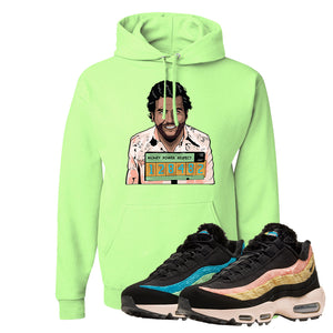 Air Max 95 Sergio Lozano Hoodie | Escobar Illustration, Neon Green
