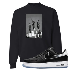 Colin Kaepernick X Air Force 1 Low Kaepernick Fist Black Sneaker Hook Up Crewneck Sweatshirt