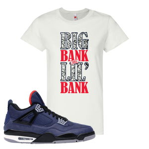 Jordan 4 WNTR Loyal Blue Big Bank Take Lil' Bank White Sneaker Hook Up Women's T-Shirt