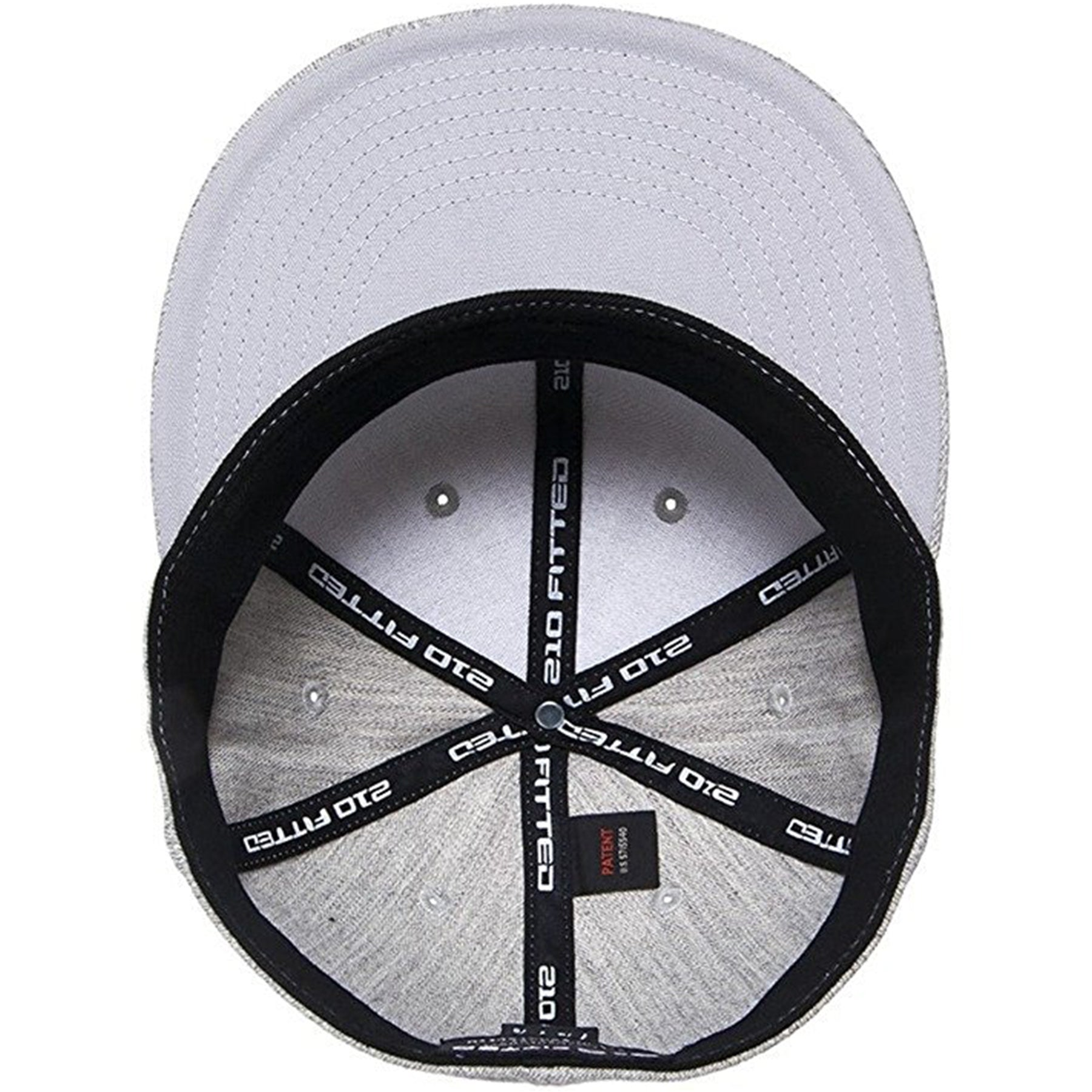 3c343c0aa5a28 ... the interior and under brim of the heather gray flexfit stretch fit  flat brim fitted cap