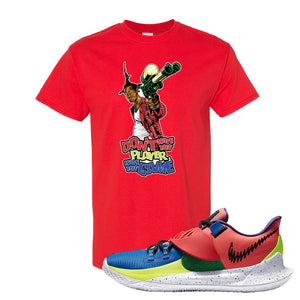 Kyrie Low 3 NY vs NY T Shirt | Don't Hate The Playa, Red