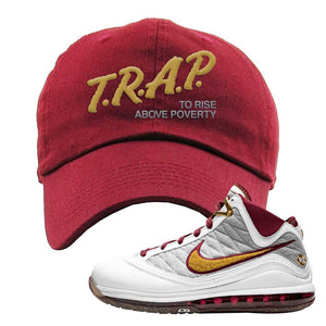 LeBron 7 MVP Dad Hat | Maroon, Trap To Rise Above Poverty