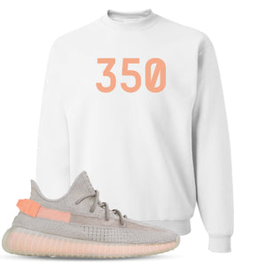 "Yeezy Boost 350 True Form V2 Sneaker Hook Up ""350"" White Crewneck Sweater"