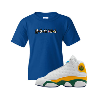 Homies Royal Blue Kid's T-Shirt to match Air Jordan 13 GS Playground Kids Sneakers