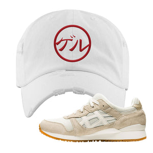 GEL-Lyte III 'Monozukuri Pack' Distressed Dad Hat | White, Japanese Circle