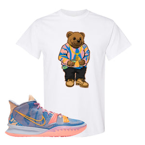 Kyrie 7 Expressions T-Shirt | Sweater Bear, White
