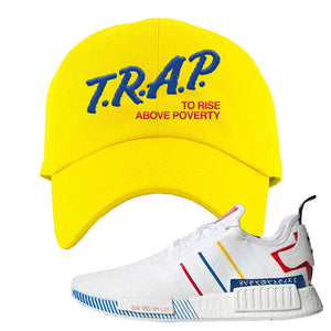 NMD R1 Olympic Pack Dad Hat | Yellow, Trap To Rise Above Poverty
