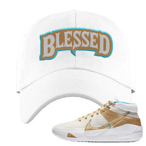 KD 13 EYBL Dad Hat | Blessed Arch, White