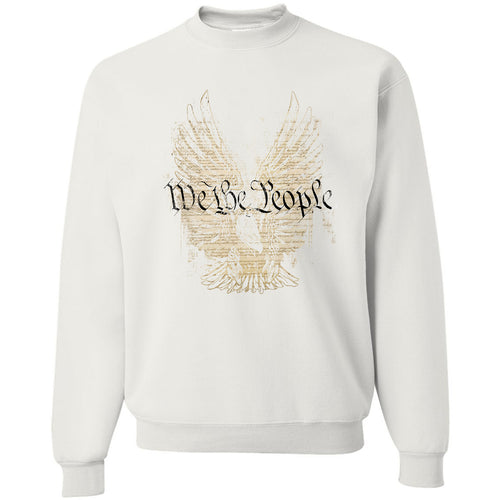 Standard Issue We The People Bald Eagle White Grunt Life Crewneck Sweater
