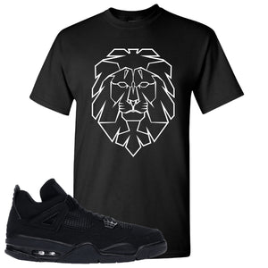 Air Jordan 4 Black Cat Cyber Lion Black Made to Match T-Shirt
