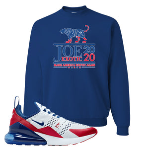 Air Max 270 USA Crewneck | Royal Blue, Joe Exotic 2020
