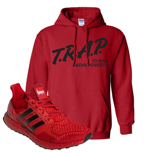 Ultra Boost 1.0 Nebraska Hoodie | Trap To Rise Above Poverty, Red
