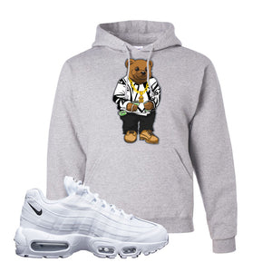 Air Max 95 White Black Hoodie | Ash, Sweater Bear