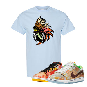 SB Dunk Low Street Hawker T Shirt | Indian Chief, Light Blue