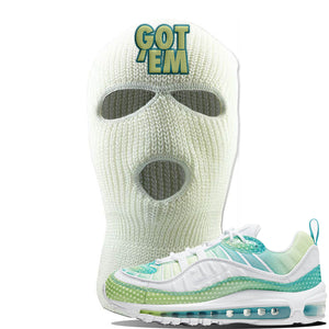 WMNS Air Max 98 Bubble Pack Sneaker White Ski Mask | Winter Mask to match Nike WMNS Air Max 98 Bubble Pack Shoes | Got Em