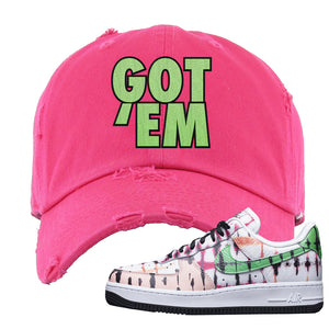 Air Force 1 Low Multi-Colored Tie-Dye Distressed Dad Hat | Pink, Got Em