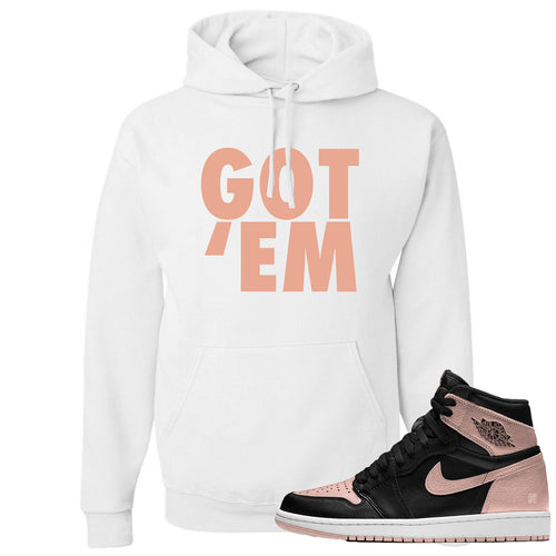 White and crimson hoodie to match Crimson Tint Jordan 1 shoes