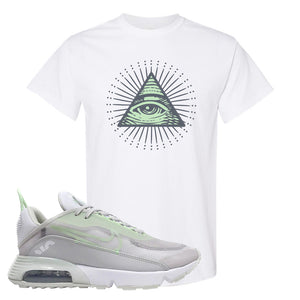 Air Max 2090 'Vast Gray' T Shirt | White, All Seeing Eye