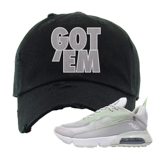 Air Max 2090 'Vast Gray' Distressed Dad Hat | Black, Got Em