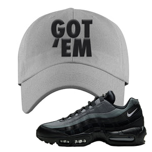 Air Max 95 Black Smoke Grey Dad Hat | Got Em, Light Gray