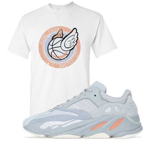 Yeezy Boost 700 Inertia Young Fresh and Fly Sneaker Matching White Tee Shirt