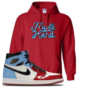 Air Jordan 1 Fearless Hustle Hard Red Made to Match Pullover Hoodie
