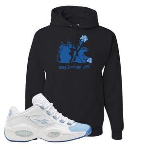Question Low Carolina Blue Hoodie | Black, Army Rats