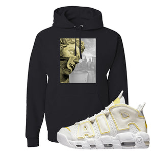 Air More Uptempo Light Citron Hoodie | Miguel, Black
