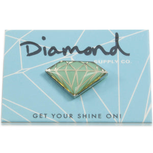 Diamond Supply Co Teal Diamon Pin