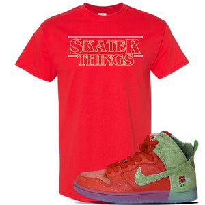 SB Dunk High 'Strawberry Cough' T Shirt | Red, Skater Things