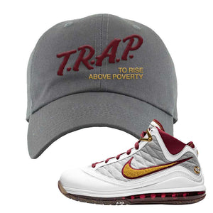 LeBron 7 MVP Dad Hat | Dark Gray, Trap To Rise Above Poverty