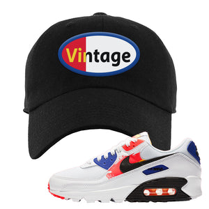 Air Max 90 Paint Streaks  Dad Hat | Vintage Oval, Black