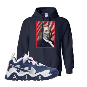 Air Barrage Low USA Hoodie | Navy, Franklin Mask