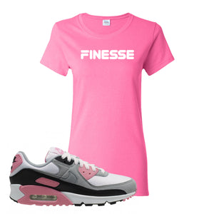 WMNS Air Max 90 Rose Pink Finesse Azalea Women's T-Shirt To Match Sneakers