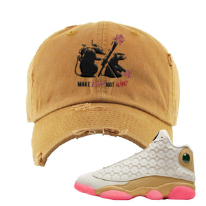Jordan 13 Chinese New Year Distressed Dad Hat | Timberland, Army Rats