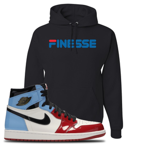 Air Jordan 1 Fearless Finesse Black Made to Match Pullover Hoodie