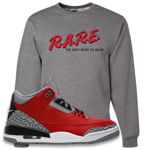 Jordan 3 Red Cement Crewneck Sweatshirt | Oxford, Rare