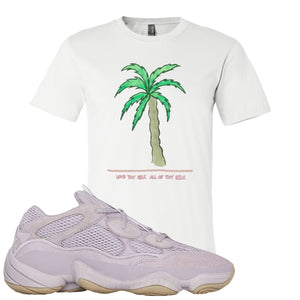 Yeezy 500 Soft Vision Love Thyself Palm White Sneaker Hook Up Women's T-Shirt