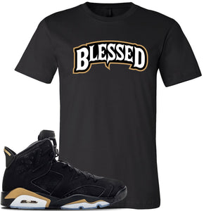 Jordan 6 DMP 2020 Sneaker Black T Shirt | Tees to match Nike Air Jordan 6 DMP 2020 Shoes |  Blessed Arch