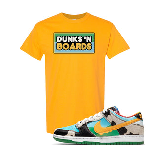 SB Dunk Low 'Chunky Dunky' T Shirt | Gold, Dunks 'N Boards