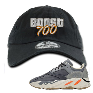 Yeezy Boost 700 Magnet GTA Cover Lettering Black Distressed Dad Hat