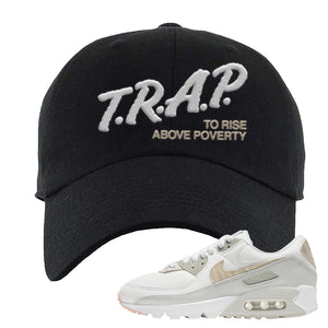 Air Max 90 Zebra Snakeskin Dad Hat | Trap To Rise Above Poverty, Black