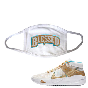 KD 13 EYBL Face Mask | Blessed Arch, White