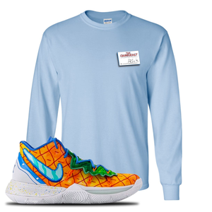 Kyrie 5 Pineapple House Longsleeve T-Shirt | Light Blue, Rick
