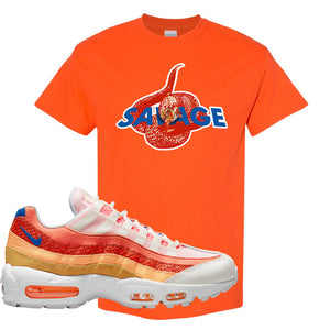 Air Max 95 Orange Snakeskin T Shirt | Savage Snake, Orange